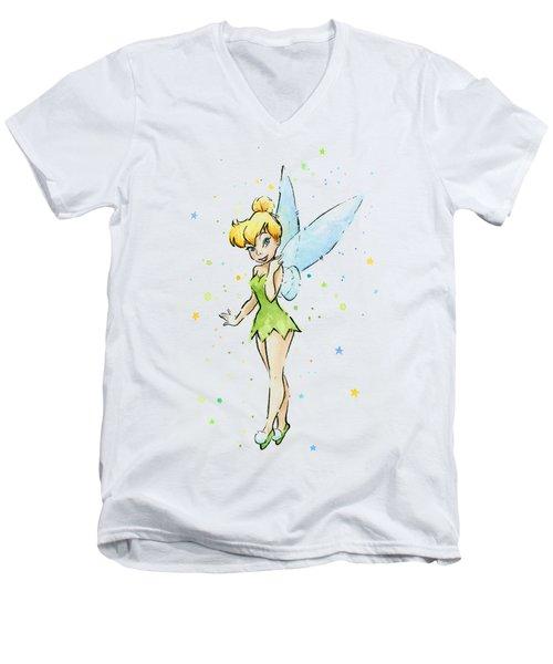 Tinker Bell Men's V-Neck T-Shirt by Olga Shvartsur