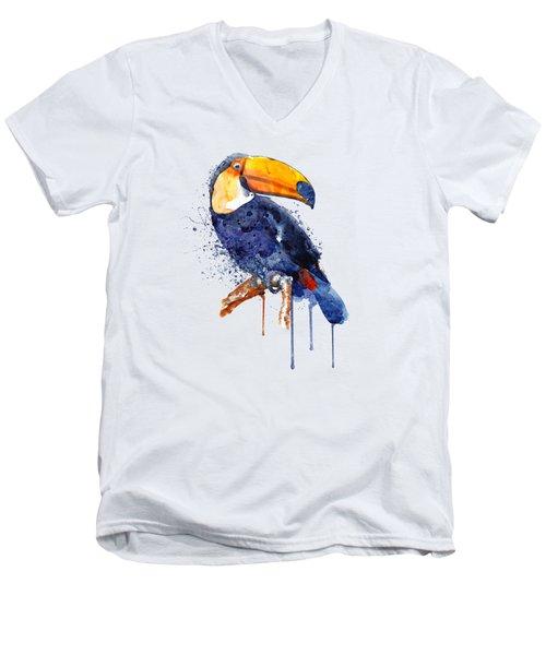 Toucan Men's V-Neck T-Shirt by Marian Voicu