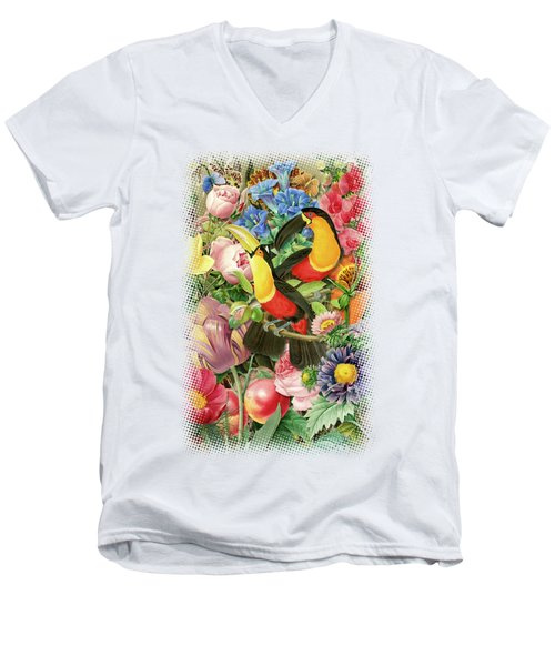 Toucans Men's V-Neck T-Shirt by Gary Grayson