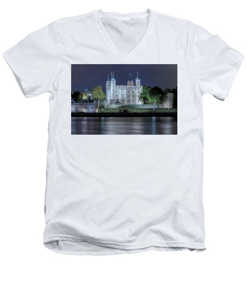 Tower Of London Men's V-Neck T-Shirt by Joana Kruse