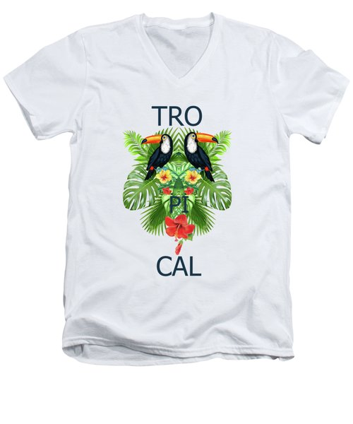 Tropical Summer  Men's V-Neck T-Shirt by Mark Ashkenazi