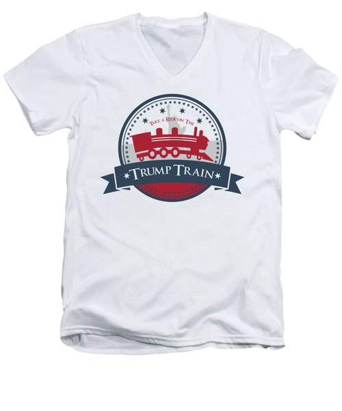 Trump Train Men's V-Neck T-Shirt by Eye Candy Creations