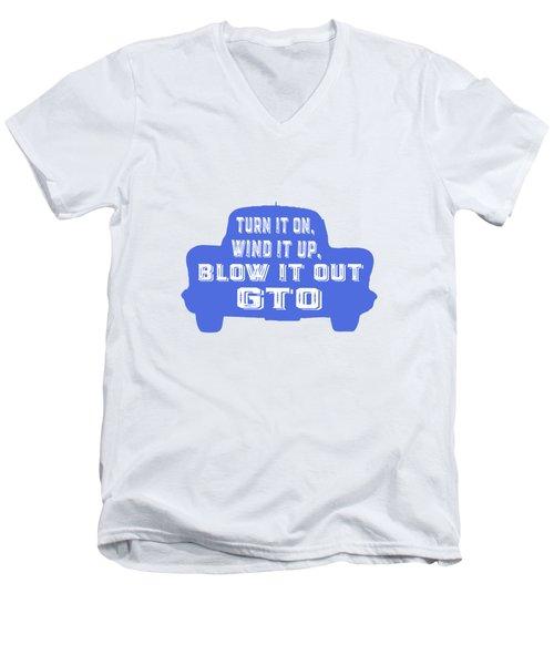 Turn It On Wind It Up Blow It Out Gto Men's V-Neck T-Shirt by Edward Fielding