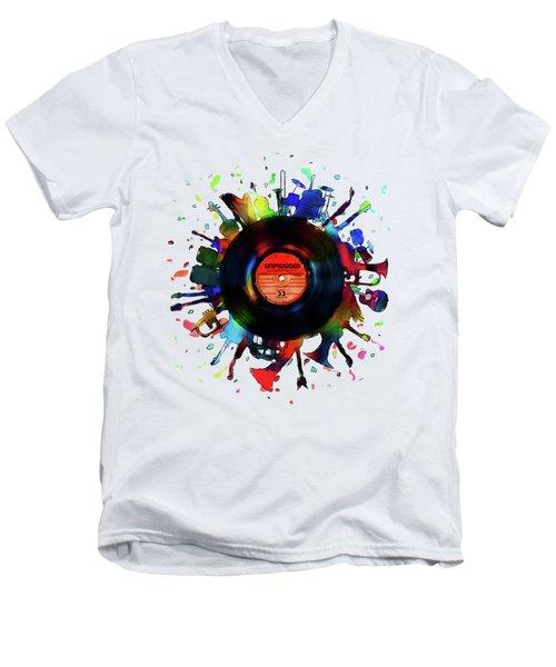 Unplugged Men's V-Neck T-Shirt by Mustafa Akgul