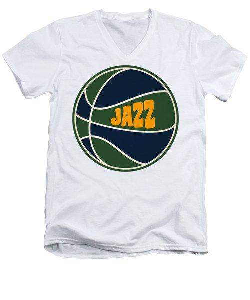 Utah Jazz Retro Shirt Men's V-Neck T-Shirt by Joe Hamilton