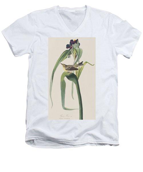 Vigor's Warbler Men's V-Neck T-Shirt by John James Audubon