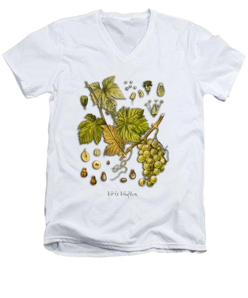 Vitis Vinifera Men's V-Neck T-Shirt by Justyna JBJart