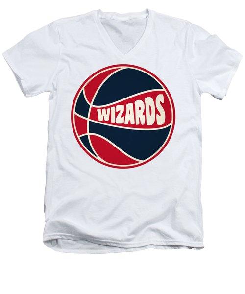 Washington Wizards Retro Shirt Men's V-Neck T-Shirt by Joe Hamilton