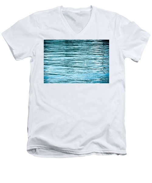 Water Flow Men's V-Neck T-Shirt by Steve Gadomski