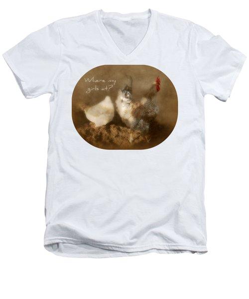 Where My Girls At Men's V-Neck T-Shirt by Anita Faye