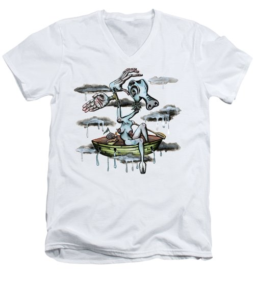 Why Sky Captain Men's V-Neck T-Shirt by Kelly Jade King