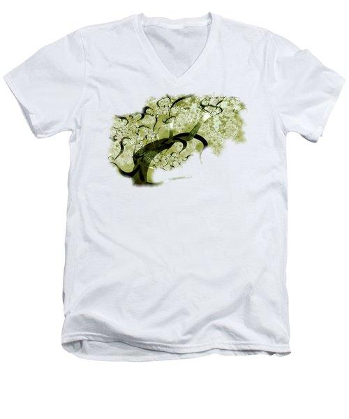 Wishing Tree Men's V-Neck T-Shirt by Anastasiya Malakhova