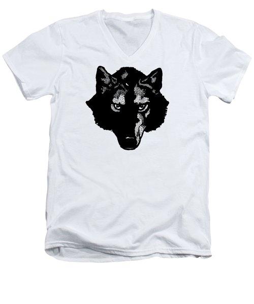 Wolf Tee Men's V-Neck T-Shirt by Edward Fielding
