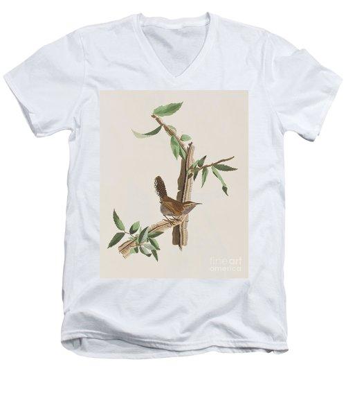 Wren Men's V-Neck T-Shirt by John James Audubon