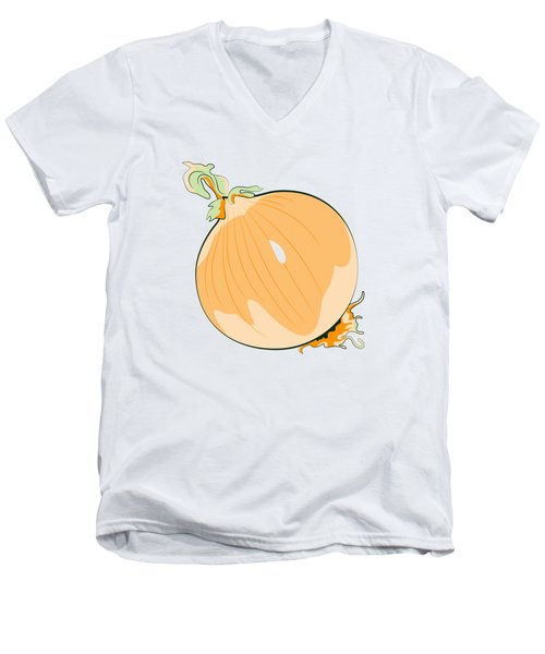 Yellow Onion Men's V-Neck T-Shirt by MM Anderson