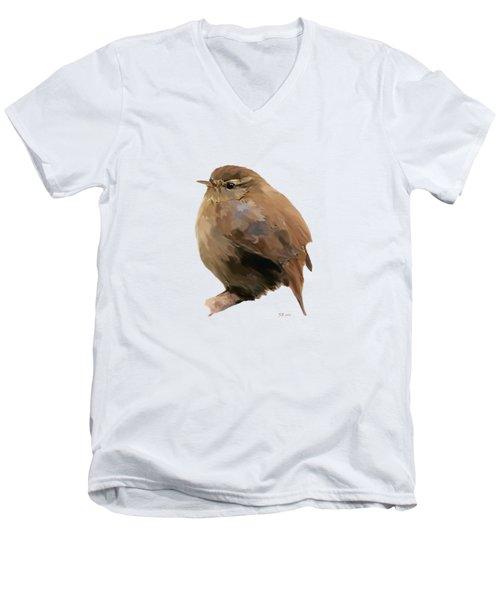 Young Female Blackbird - Turdus Merula Men's V-Neck T-Shirt by Bamalam  Photography