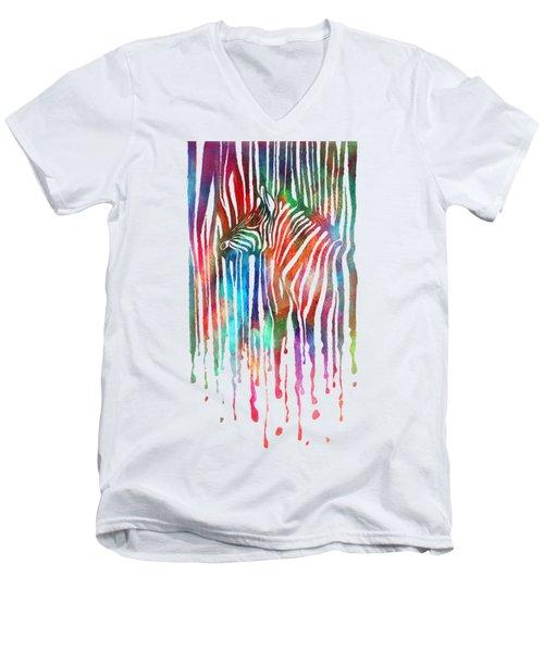 zeb Men's V-Neck T-Shirt by Mustafa Akgul
