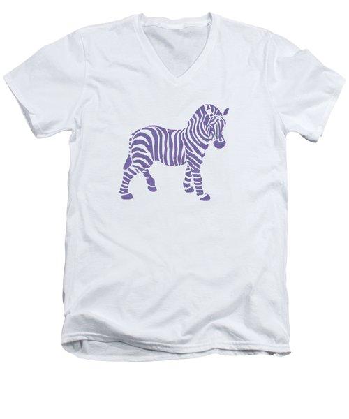 Zebra Stripes Pattern Men's V-Neck T-Shirt by Christina Rollo