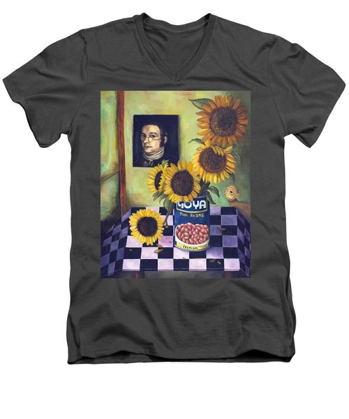 Goyas Men's V-Neck T-Shirt by Leah Saulnier The Painting Maniac