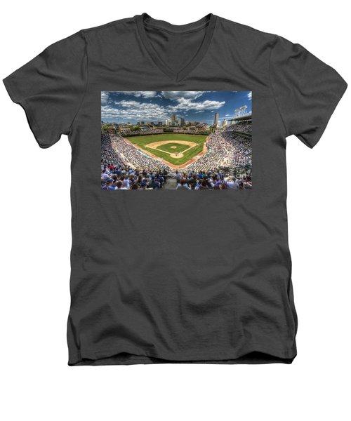 0234 Wrigley Field Men's V-Neck T-Shirt by Steve Sturgill