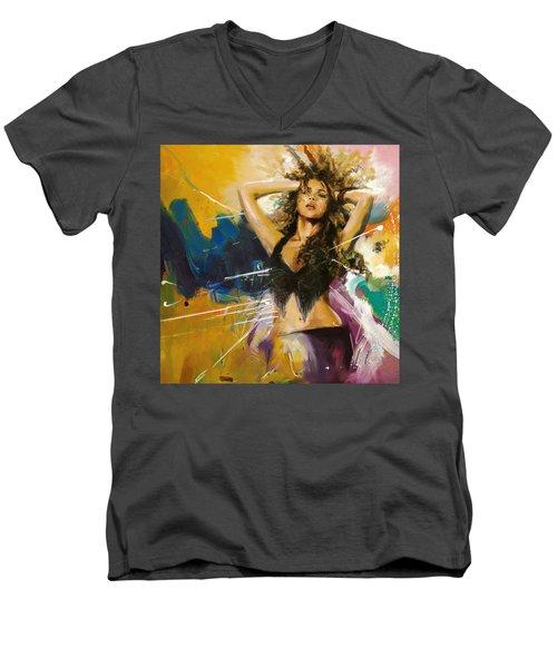 Shakira Men's V-Neck T-Shirt by Corporate Art Task Force