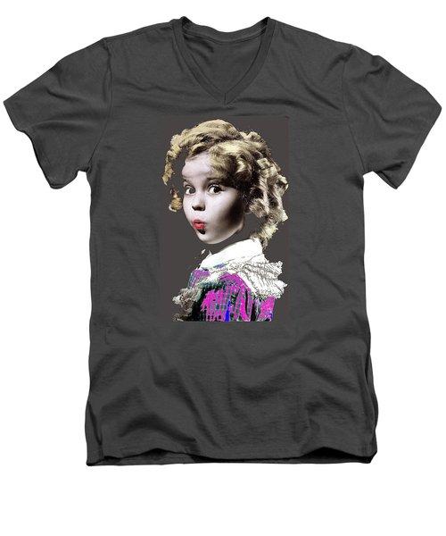 Shirley Temple Publicity Photo Circa 1935-2014 Men's V-Neck T-Shirt by David Lee Guss