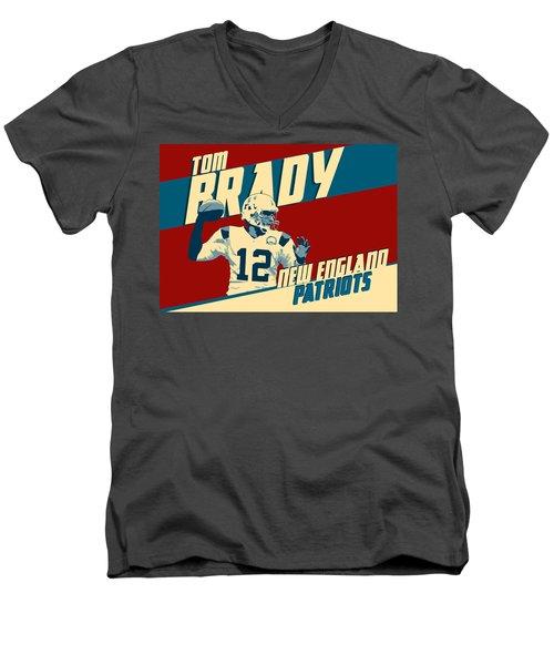 Tom Brady Men's V-Neck T-Shirt by Taylan Soyturk