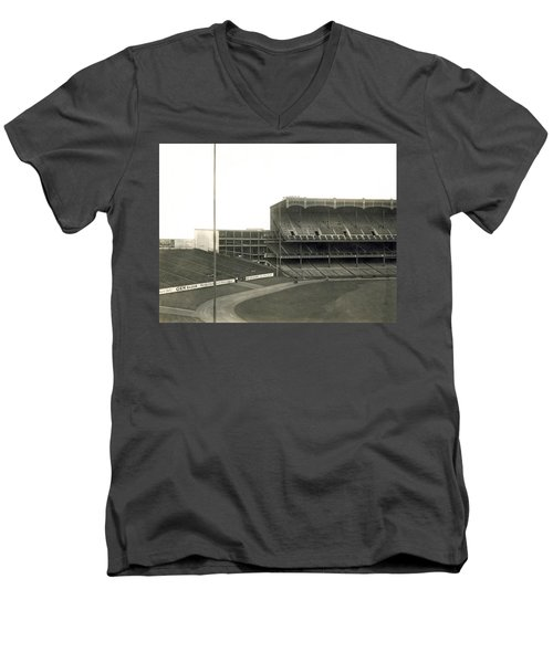 1923 Yankee Stadium Men's V-Neck T-Shirt by Underwood Archives