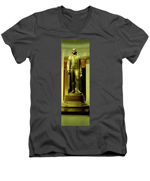 Jefferson Memorial, Washington Dc Men's V-Neck T-Shirt by Panoramic Images