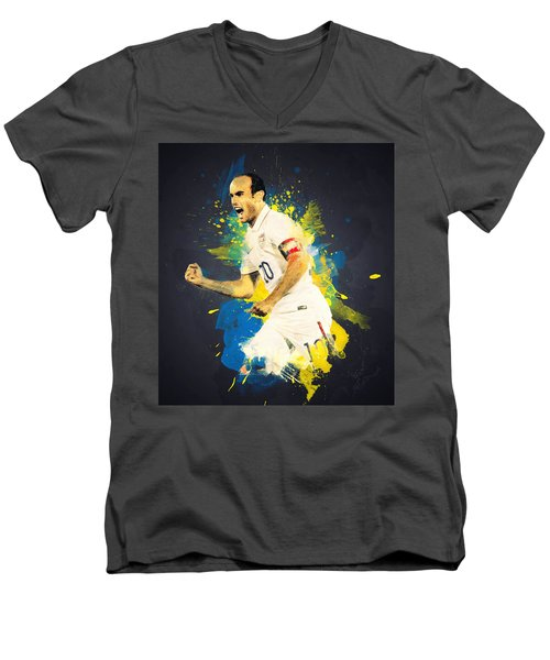 Landon Donovan Men's V-Neck T-Shirt by Taylan Soyturk