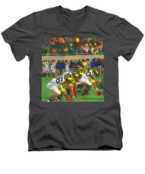 The War Men's V-Neck T-Shirt by John Farr