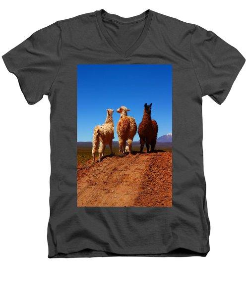 3 Amigos Men's V-Neck T-Shirt by FireFlux Studios