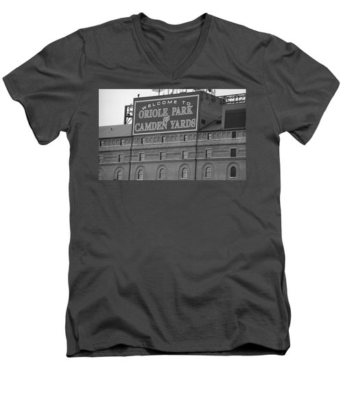Baltimore Orioles Park At Camden Yards Men's V-Neck T-Shirt by Frank Romeo