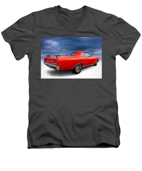 '70 Roadrunner Men's V-Neck T-Shirt by Douglas Pittman