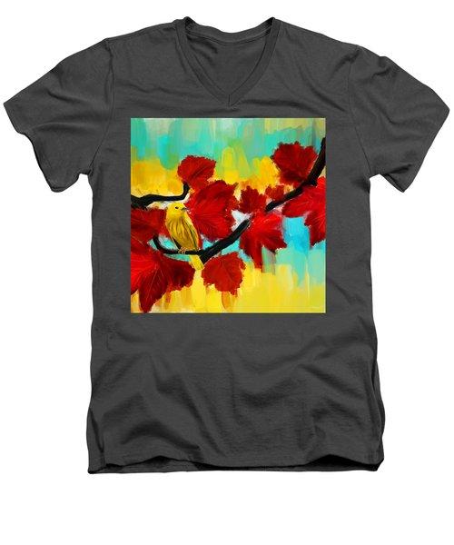 A Ponder Men's V-Neck T-Shirt by Lourry Legarde