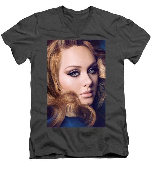 Adele Artwork  Men's V-Neck T-Shirt by Sheraz A