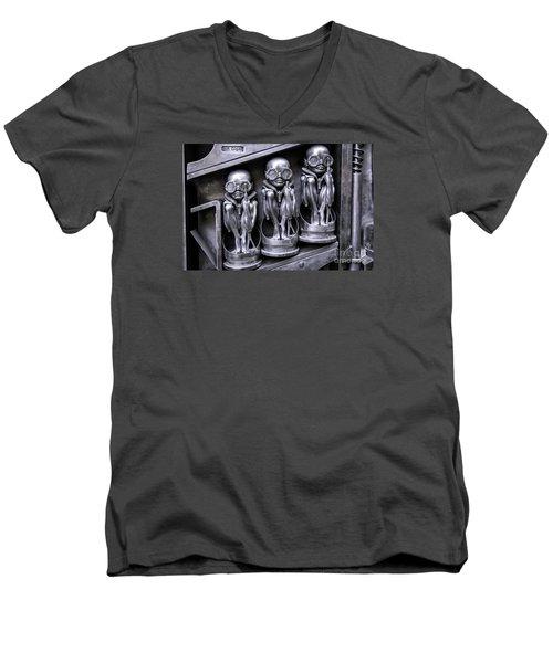 Alien Elton Men's V-Neck T-Shirt by Timothy Hacker