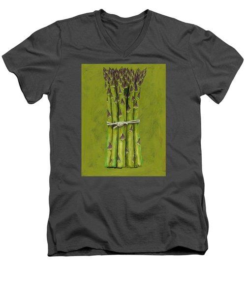 Asparagus Men's V-Neck T-Shirt by Brian James