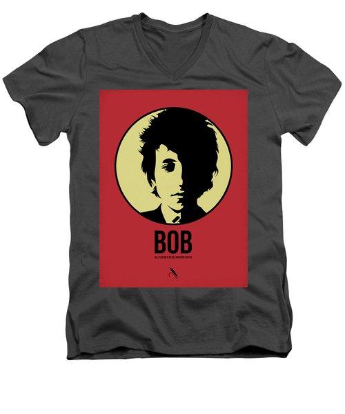 Bob Poster 1 Men's V-Neck T-Shirt by Naxart Studio