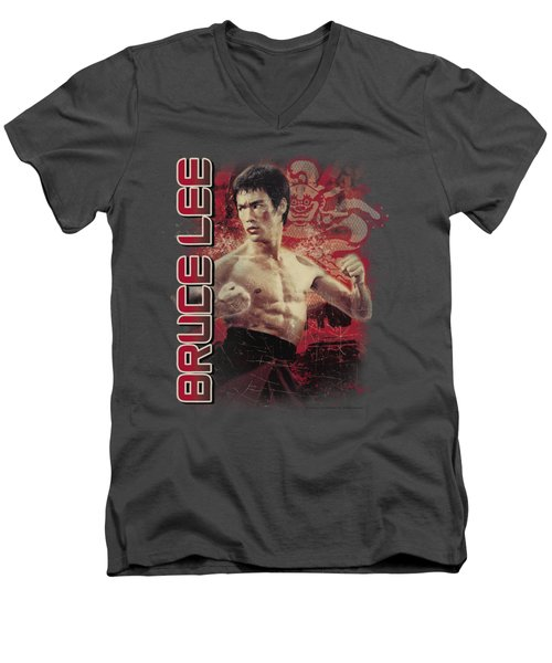 Bruce Lee - Fury Men's V-Neck T-Shirt by Brand A