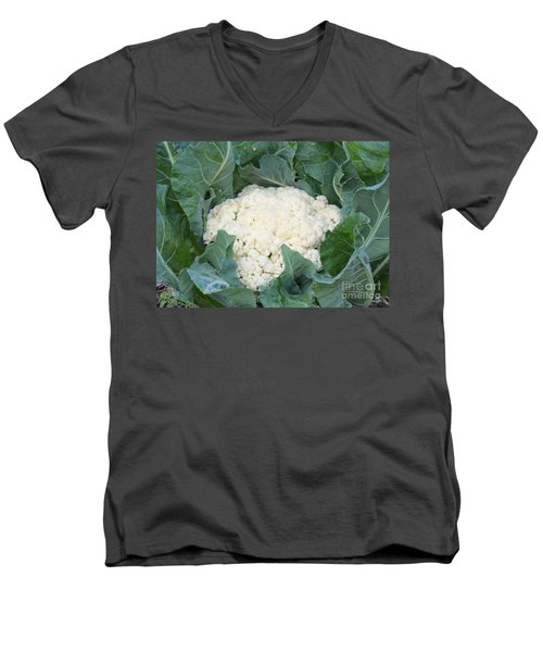 Cauliflower Men's V-Neck T-Shirt by Carol Groenen