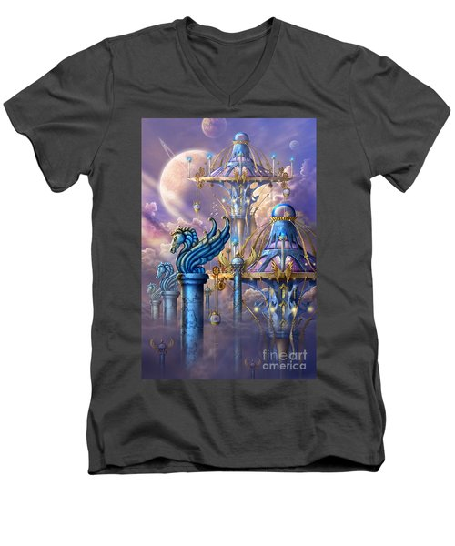 City Of Swords Men's V-Neck T-Shirt by Ciro Marchetti