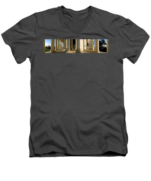 Columns Of A Memorial, Jefferson Men's V-Neck T-Shirt by Panoramic Images