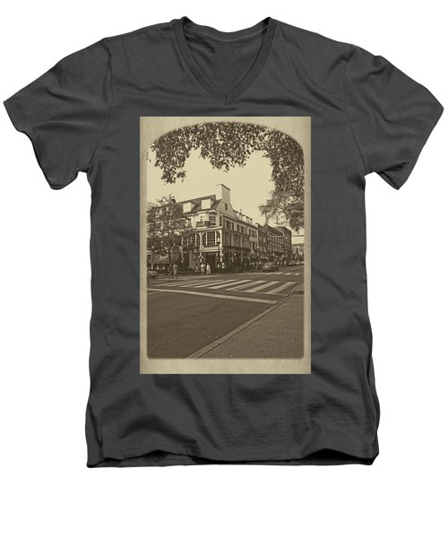 Corner Room Men's V-Neck T-Shirt by Tom Gari Gallery-Three-Photography