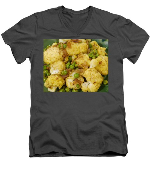 Curried Cauliflower Men's V-Neck T-Shirt by Science Source