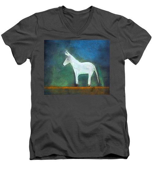 Donkey, 2011 Oil On Canvas Men's V-Neck T-Shirt by Roya Salari
