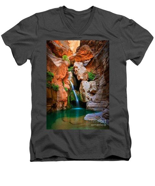 Elves Chasm Men's V-Neck T-Shirt by Inge Johnsson