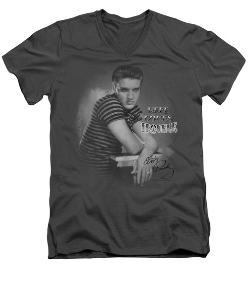Elvis - Trouble Men's V-Neck T-Shirt by Brand A