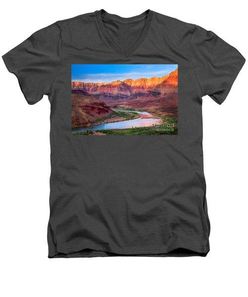 Evening At Cardenas Men's V-Neck T-Shirt by Inge Johnsson