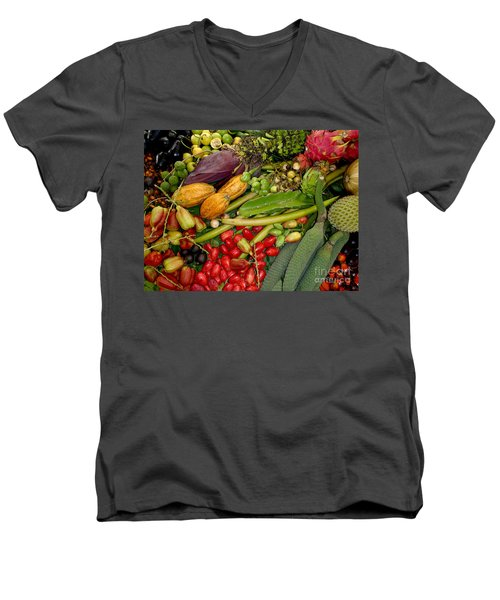 Exotic Fruits Men's V-Neck T-Shirt by Carey Chen